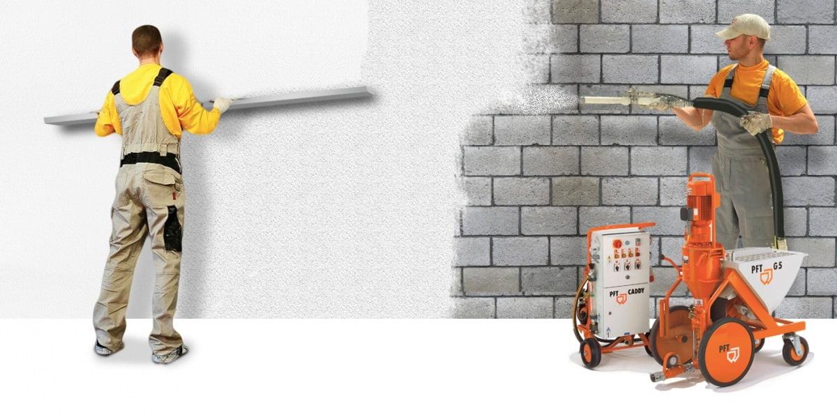 Механизированная штукатурка стен: процесс работы, преимущества и недостатки
