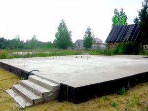 Плитный фундамент