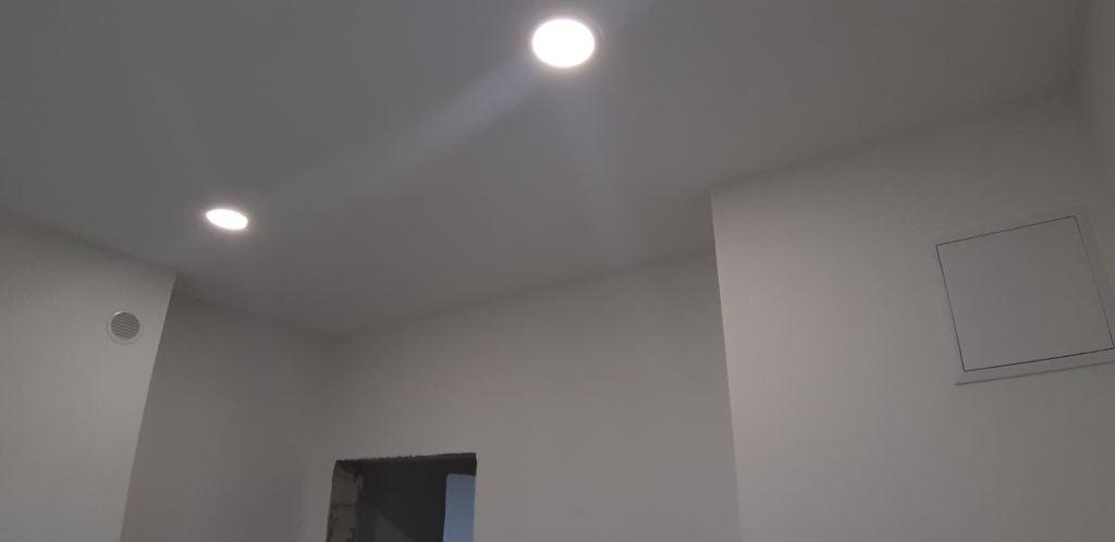 Тканевый натяжной потолок под покраску