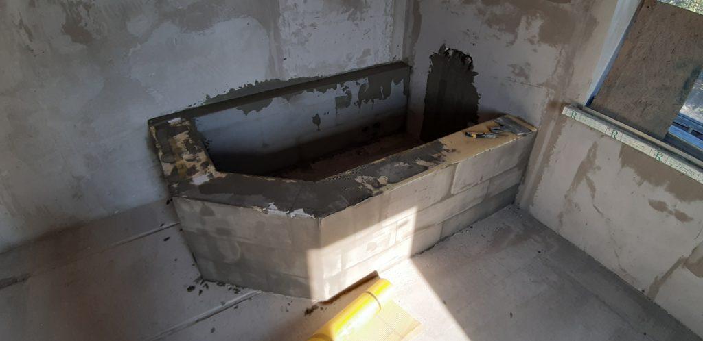 Ванна из газоблока
