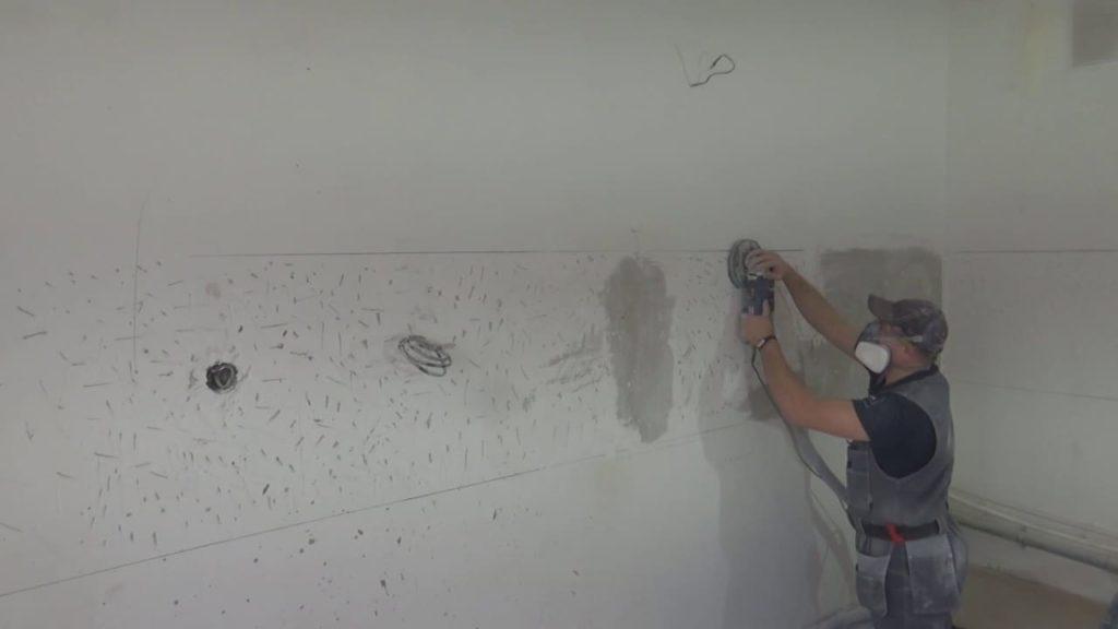 Подготовка стены под кухонный фартук