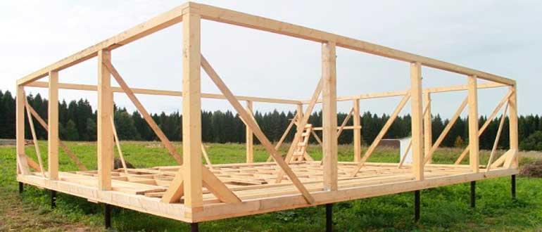 Строительство дома на винтовых сваях