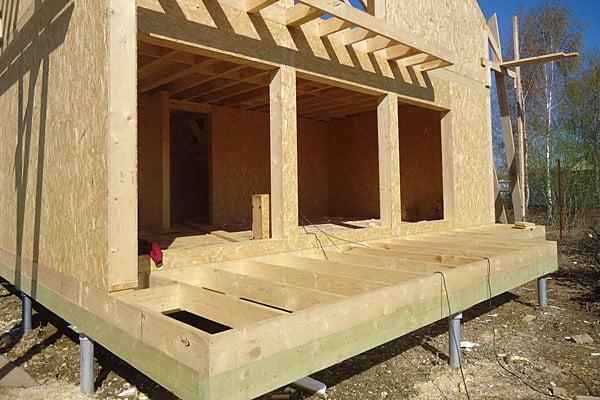 Фундамент для дома из сип панелей